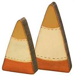 Candy Corn Shelf Sitters (Set of 2)