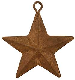 Rusty Tin Barn Star, 2 inch