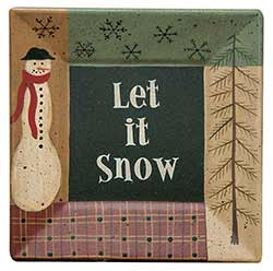 Let it Snow Primitive Plate
