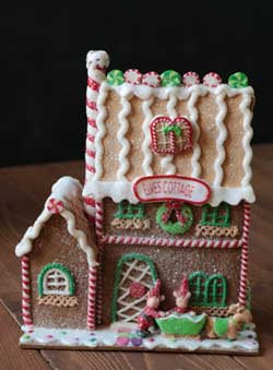 Elves Cottage Gingerbread House