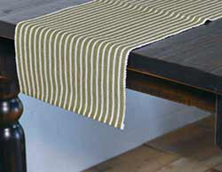 Harmony Olive Green 90 inch Table Runner