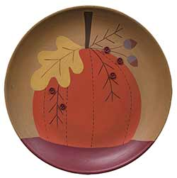 Pumpkin Primitive Plate with Buttons
