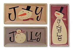 Jolly Jingle Joy Snowmen Trays (Set of 3)