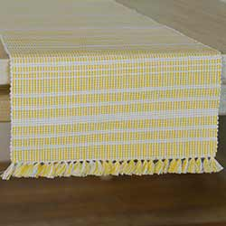 Madeline Yellow 90 inch Table Runner