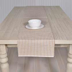 Tara Taupe 90 inch Table Runner