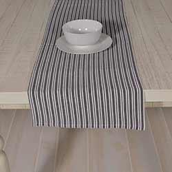Classic Stripe Black 72 inch Table Runner