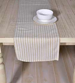 Classic Stripe Taupe 90 inch Table Runner