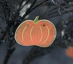 Fat Pumpkin Wood Ornament