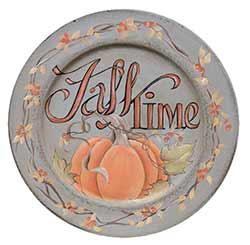 Fall Time Decorative Plate