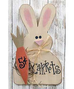 Carrots 5 Cents Bunny Hanger