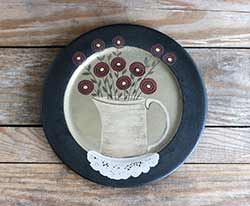 Penney Flowers Primitive Plate