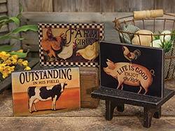 Farm Animal Shelf Sitter