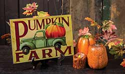Vintage Pumpkin Farm Wood Sign