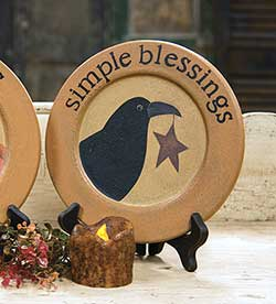 Crow and Star Simple Blessings Plate
