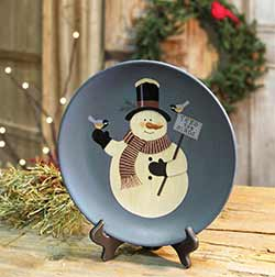 Feed the Birds Snowman Plate