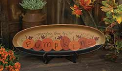 Grandma Loves Her Pumpkins Tray