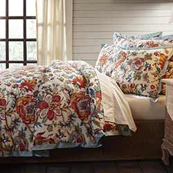 Meredith Floral Queen Duvet Cover