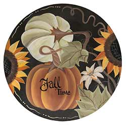 Fall Time Pumpkin Decorative Plate