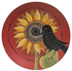 Crow & Sunflower Decorative Plate