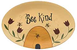 Bee Kind Primitive Plate