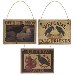 Old Crow Sign Ornament