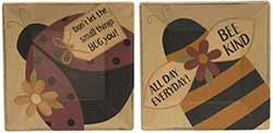 Ladybug & Bee Plates (Set of 2)
