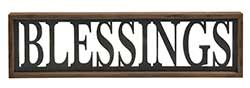 Blessings Framed Sign