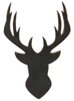 Deer Head Silhouette Wall Decor