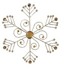 Brown Jeweled Snowflake Ornament