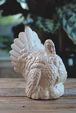 Ceramic Turkey Figure