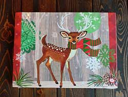 Christmas Deer Light Up Canvas Wall Decor