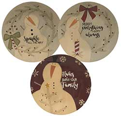 Flakes Run in Our Family Plates (Set of 3)