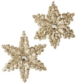 Champagne Frost Snowflake Ornament