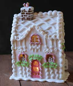 Candy Sprinkles Lighted Gingerbread House - 10.5 inch