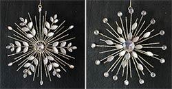 Gold Jeweled Snowflake Ornament
