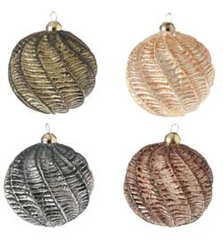 Woodland Colors Glass Ball Ornament (choose color)
