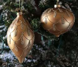 Gold Glittered Ornament