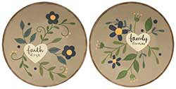 Faith & Family Plates with Hearts (Set of 2)