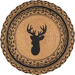 Trophy Mount Round Braided Placemat