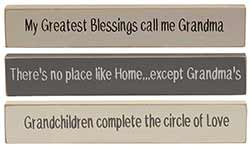 Grandma Mini Shelf Sitter Signs (Set of 3)