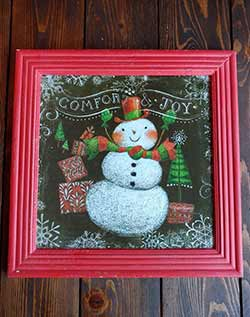 Comfort & Joy Snowman Framed Wall Art