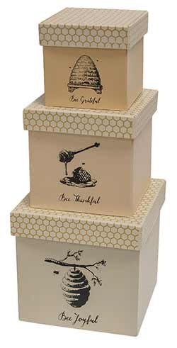 Bee Joyful Nesting Boxes (Set of 3)