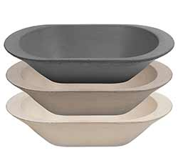 Stoneware Primitive Deep Dish (Set of 3)