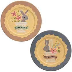 Spring Is In The Air Bunny Plates (Set of 2)
