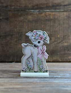 Vintage Easter Dummy Board - Lamb