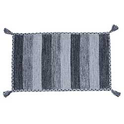 Black/Grey Braided Edge Mat