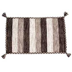 Brown/Ivory Braided Edge Mat