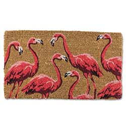Flamingo Flock Doormat
