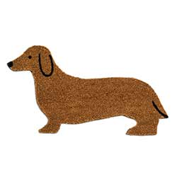 Dachshund Shaped Doormat