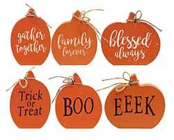 Reversible Pumpkin Shelf Sitter